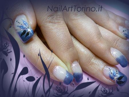 Nail Art Blue Jeans Nero Dettaglio