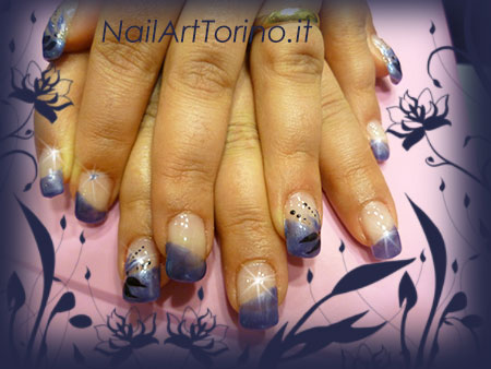 Nail Art Blue Jeans Nero