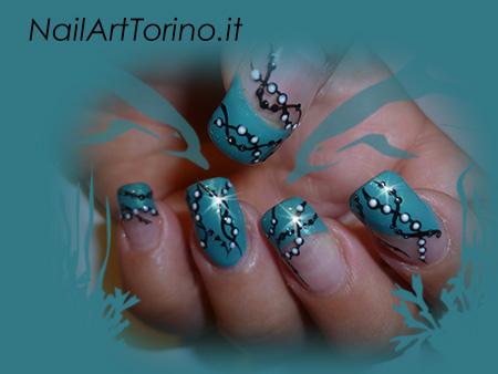 Nail Art Corallo Dettaglio