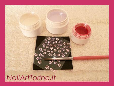 Nail Art Fuxia Materiali