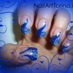 Nail Art Glitter Blu