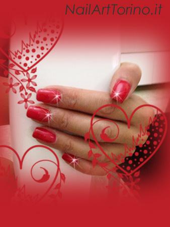 Nail Art Rosso Dettaglio
