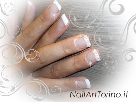 Nail Art Pizzo Bianco Dettaglio