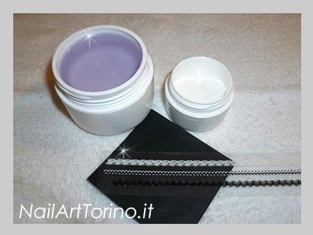 Nail Art Pizzo Bianco Materiali