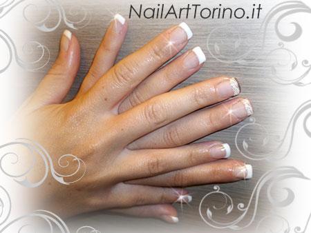 Nail Art Pizzo Bianco