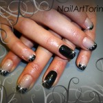 Unghie Decorate Gel Swarovski Nero