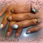 Unghie gel cover glitter nero