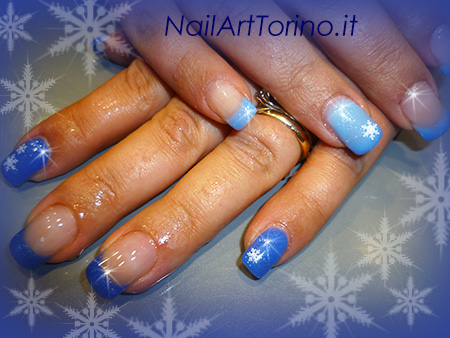 Nail art termico effetto neve 3