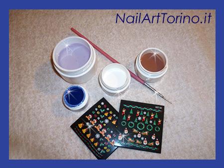 Nail art termico effetto neve materiali