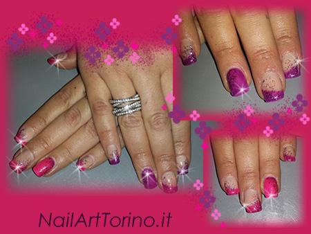 Gel Termico viola-fucsia glitter