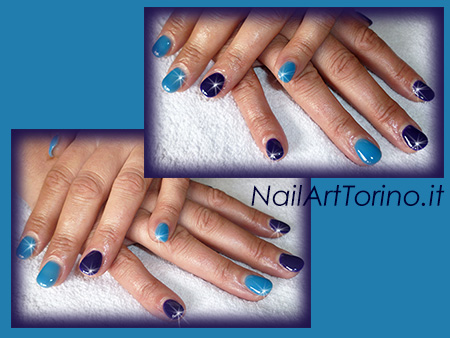 Nail-Art-total-color-blu-turchese