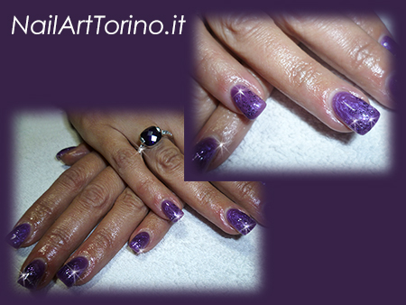 Nail-Art-total-color-lilla-perlato-glitter