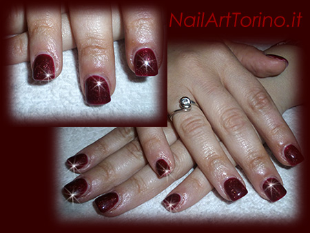 Nail-Art-total-color-rosso-perlato
