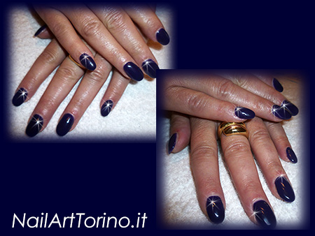 Nail-Art-total-color-viola-scuro