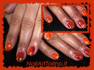 Nail Art stravaganti arancione sfumato