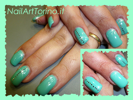 Nail Art Stravaganti color menta
