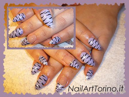 Nail Art Stravaganti zebrate