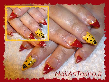 Nail Art stravaganti Winnie The Pooh