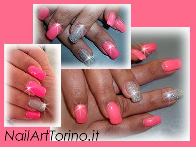 Unghie-estate-2014-Fucsia-fluo-glitter