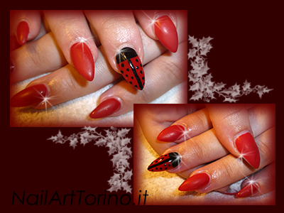unghie-in-gel-coccinella-rosso-matt