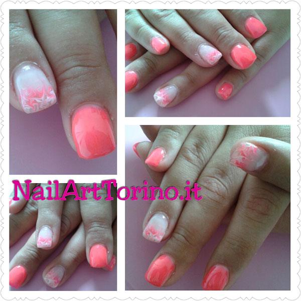 nail,art,estate,2015,fluo,rosa,marmorizzato