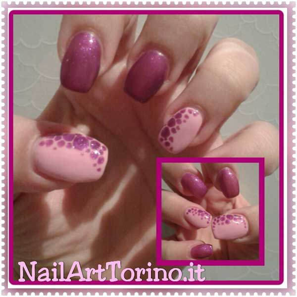 nail-art-estate-2015-giraffato-rosa-bi-color