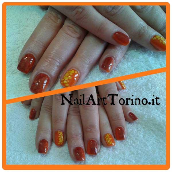 nail art estate 2015 giraffato sfumato arancio