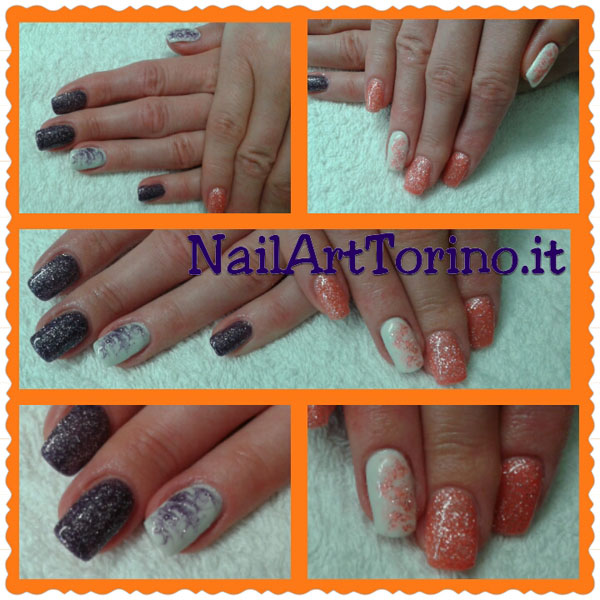 nail-art-estate-2015-termico-arancio-viola-glitter