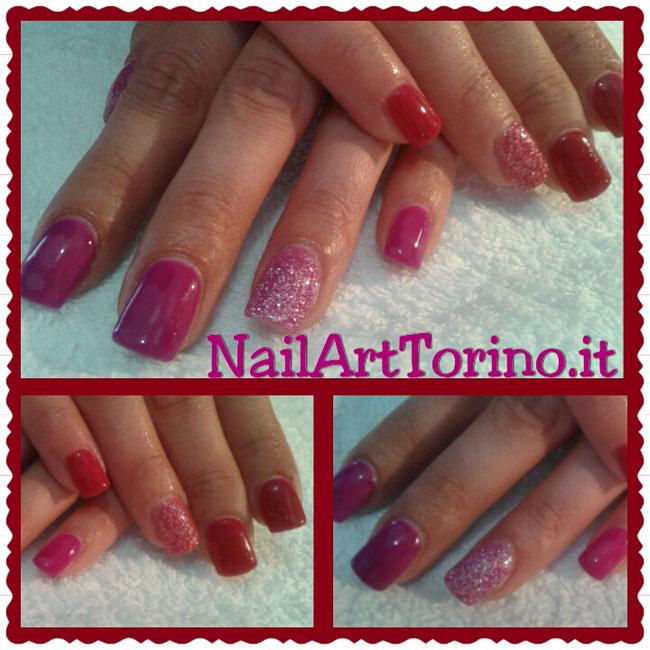 nail-art-estate-2015-termico-rosso-fucsia-+glitter