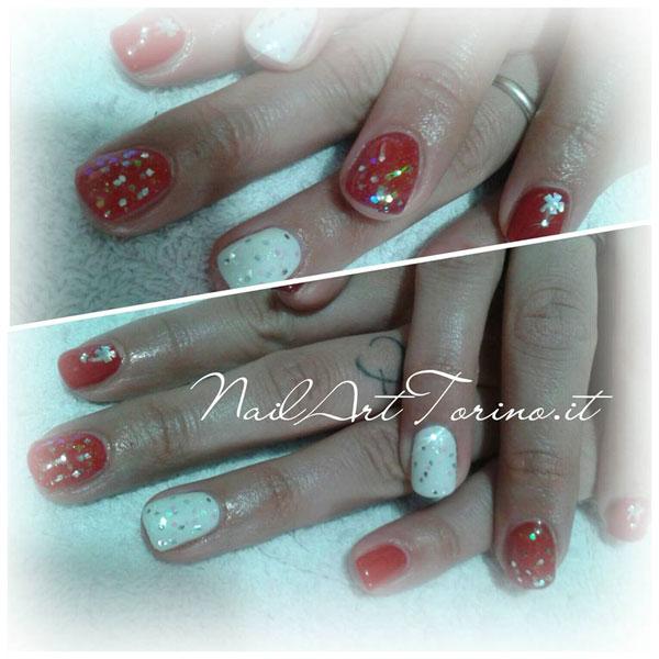 Nail-Art-Torino-Natale-2015-Rosso-e-Bianco-Glitter